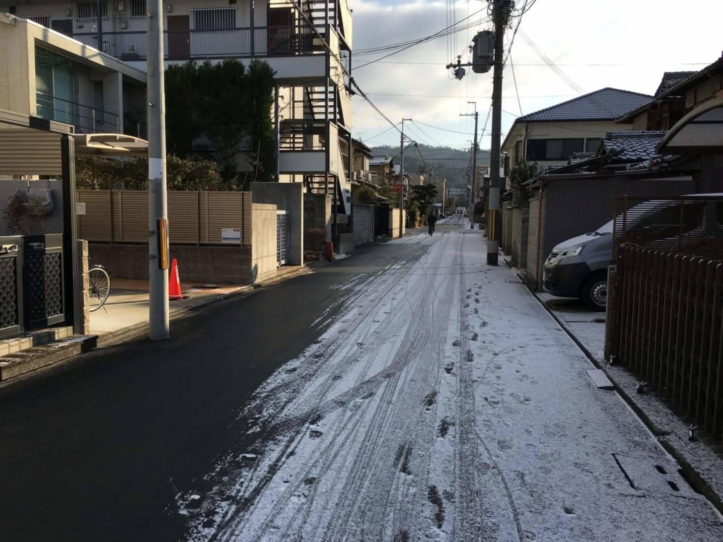 積雪があった事務所周辺