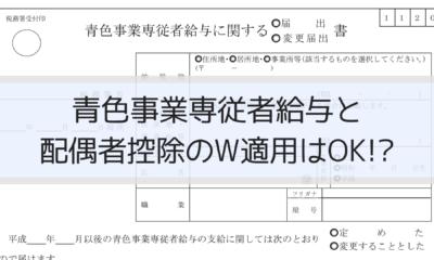 青色事業専従者給与と配偶者控除のW適用はOK!?