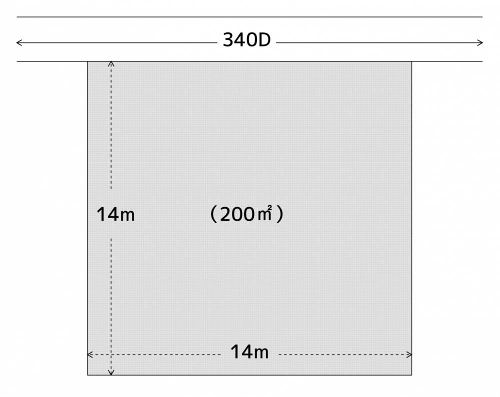 きれいな正方形をした宅地の図