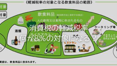 消費税の軽減税率 何が8%の対象になる?