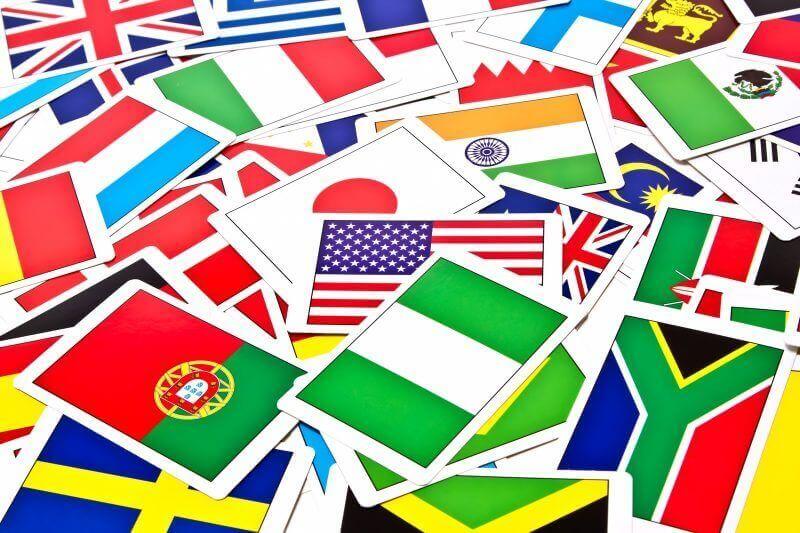 いろんな国の国旗(相続税の国外財産関連)
