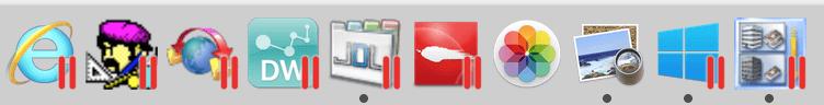 Parallels Desktopインストール後のメニューバー